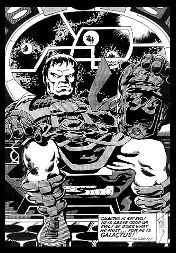 Amazing! - Galactus unmasked by John Byrne from 1974.