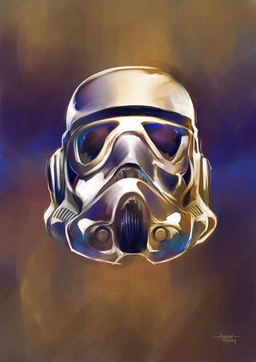 ghori:  Here's how I made The Stormtrooper ( Digital Painting, Paint Tool Sai / Wacom Cintiq) :   Pop Cultural Icons Series ©Ashraf Ghori 2013