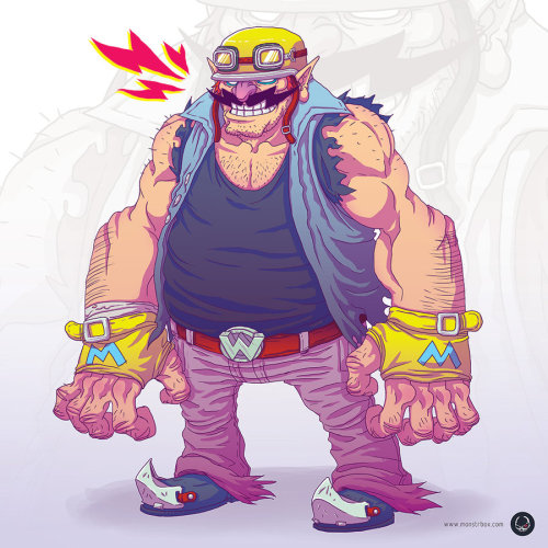 Biker Wario by ~monstrbox Samuel J. Dávila: Facebook | Behance | deviantART