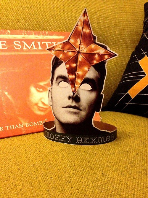 Mozzy Hexmas! Morrissey Christmas tree toppers are now available on Etsy.
