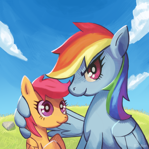 theponyartcollection:  Like Sisters by ~B0nBon