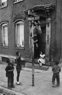 bygoneamericana:  Children at Colwell and Pride Streets. Pittsburgh, 1955. By W. Eugene Smith