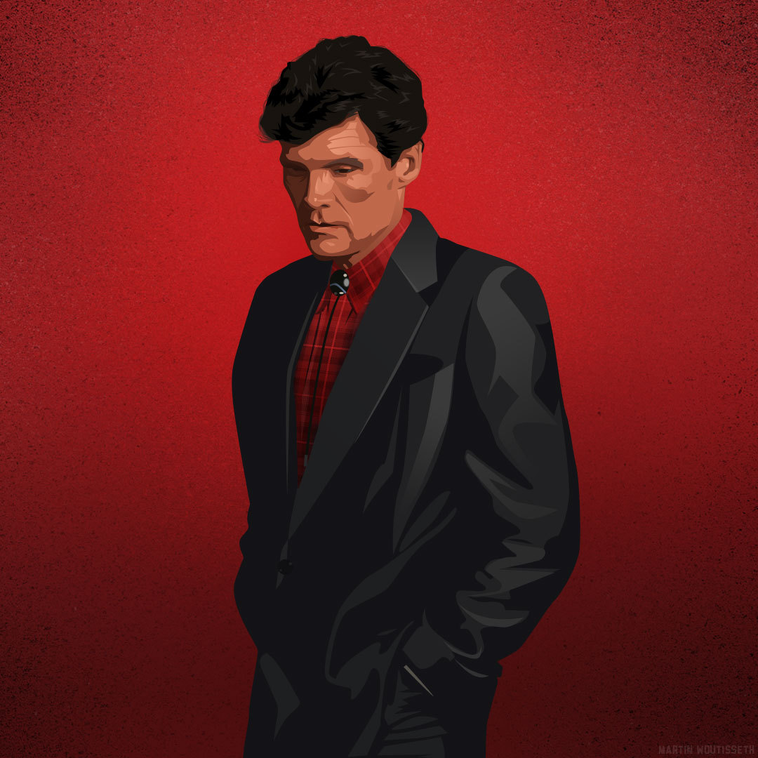 Twin peaks illustrated - Ed Hurley by Martin Woutisseth