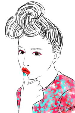 sweetgossipblog-art-fashion:  New drawing!