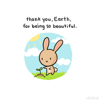 Thank you for the oceans and trees and skies and everything. <3 Happy earth day.