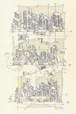 archisketchbook:  G. Eddie Guidry Scrapes 02 Drawings: Pencil/Pen/Ink  Love the dwg