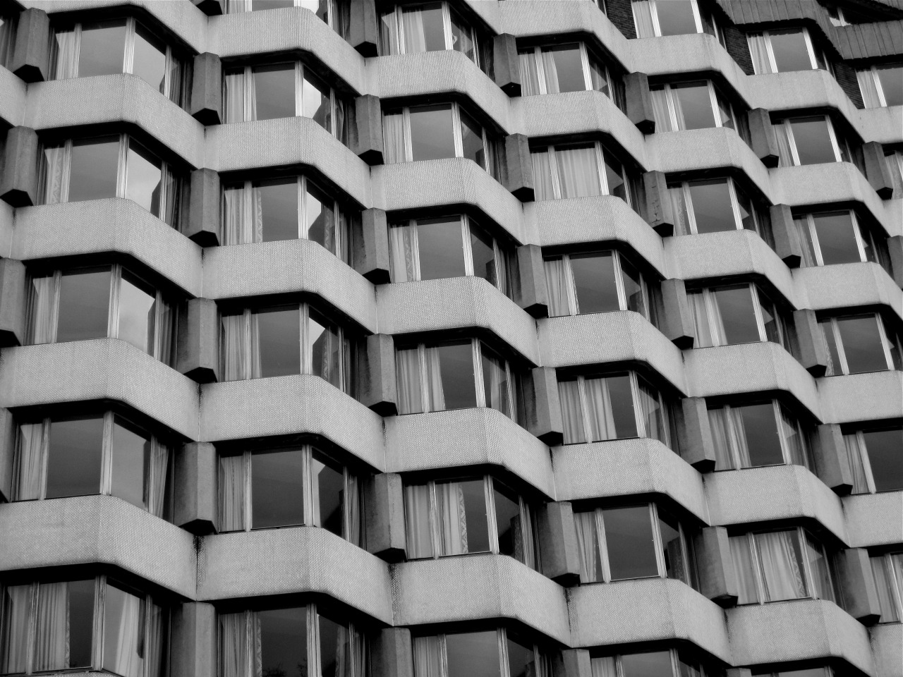 chrisjonesphotos:  monochrome building by Chris Jones