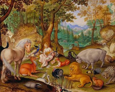 centuriespast:  Jacob Hoefnagel (1575–ca. 1630)Orpheus Charming the Animals The Morgan Library