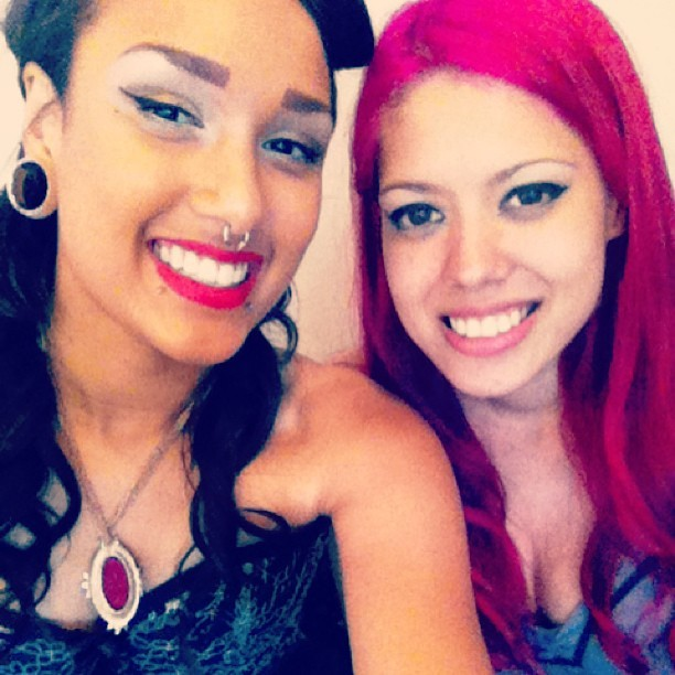 Myself and Violet Love after the shoot today :)