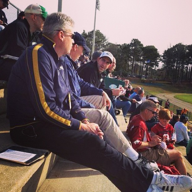 Sitting next to #jets HC Rex Ryan #seniorbowl