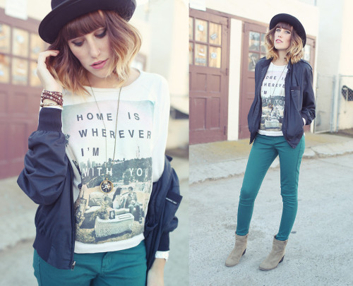 lookbookdotnu:  Home is wherever I'm with you (by Danielle Nagel)