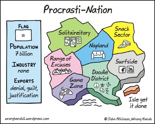ilfascinodelvago:  Procrasti-Nation.