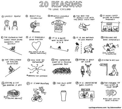 20 reasons to love cycling via  @ciudadparatodos