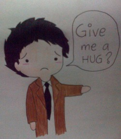 Give him a hug?  - made this awhile ago, crappy camera. I need to scan this :))