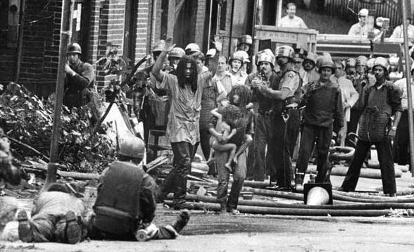 thepeoplesrecord:  On May 13, 1985, Philadelphia police dropped explosives containing C-4 on the roof of a house where members of the black liberation & social justice organization MOVE lived. Right before, police attacked the house with 10,000 rounds of ammunition in 90 minutes, knowing that children were inside. The house burned for 45 minutes before hoses were turned on. Eleven people, including founder John Africa, five adults & five children were killed. The incident also destroyed 65 homes in the area, leaving 250 homeless. Witnesses reported police officers shooting at those trying to escape from the fire that ensued. MOVE continues to advocate for prisoners' rights & for the release of Mumia Abu-Jamal & nine MOVE members who were found guilty of the murder of a police officer in 1978.