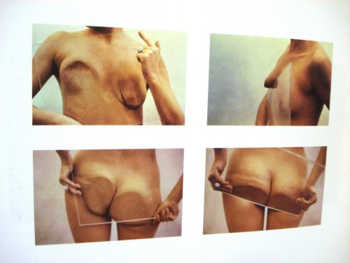 weepling:  Ana Mendieta, Untitled; Glass on Body Imprints (1972)