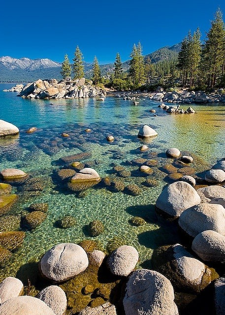 Sand Harbor, Lake Tahoe, Nevada photo via besttravelphotos