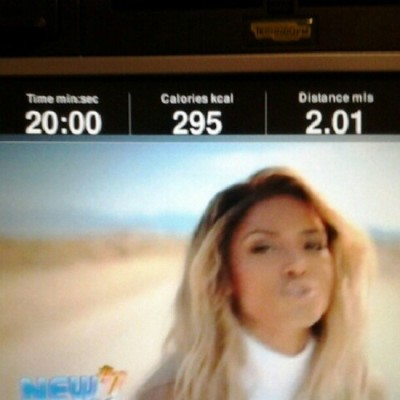 2 miles in 20 mins….  Im getting better!