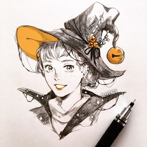 31witches sketch anime art manga art inktober my art