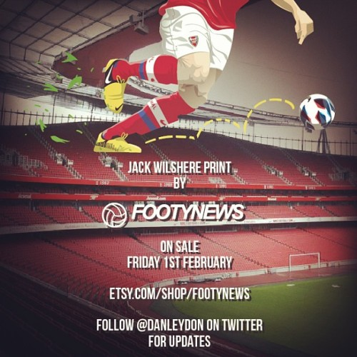 Jack Wilshere print available friday at: etsy.com/shop/footynews #afc #gunners #gooners RT's appreciated :)