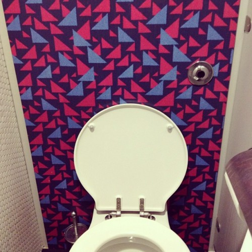Moquette toilet in the London Transport Museum