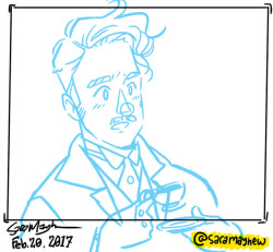 Working on a one-page comic about time travel