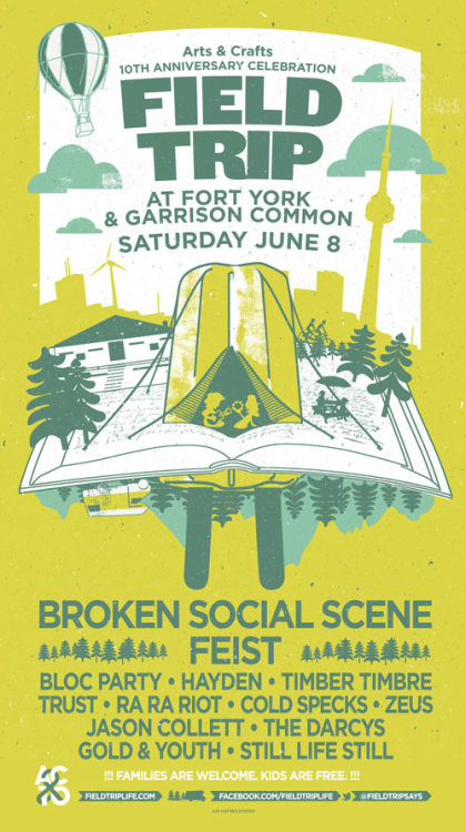 Confirmed Tickets, I am finally going to see Broken Social Scene and Feist live!  2013 looking up.  Where is Bruce McDonald? I think we need a follow-up movie to This Movie is Broken.