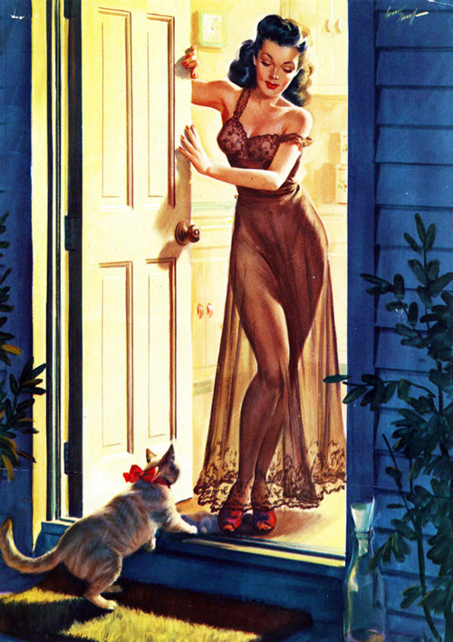 vintagegal:  Illustration by Arthur Sarnoff c. 1940's
