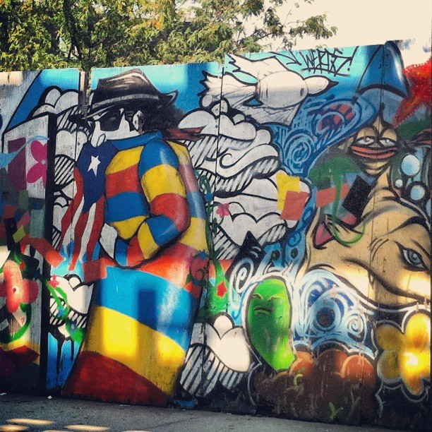 Graffiti in Marcy, Brooklyn. Jay-Z's hood. Dope as hell. #Graffiti #Brooklyn #Marcy