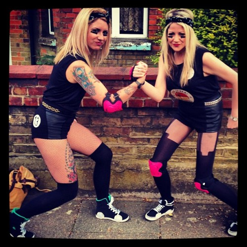 crazyschnitz:  Roller Derby Bitches #rollerderby #rollergirls #fancydress #skates #babes #hardcore #rum #rumdrinking sailorjerry #sailorjerrys #spicedrum #party