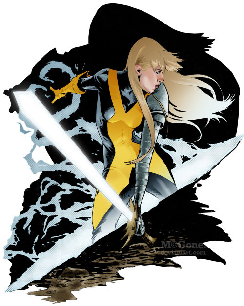 mcgone:  Magik by *McGone Just in time for International Women's Day,* it's my take on everybody's favorite Russian inter-dimensional teleporter, Magik. *Purely coincidental.