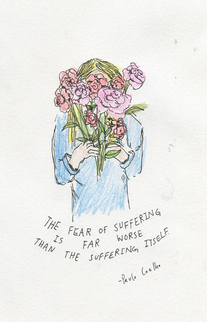 heythereyouare:  The fear of suffering on Flickr.