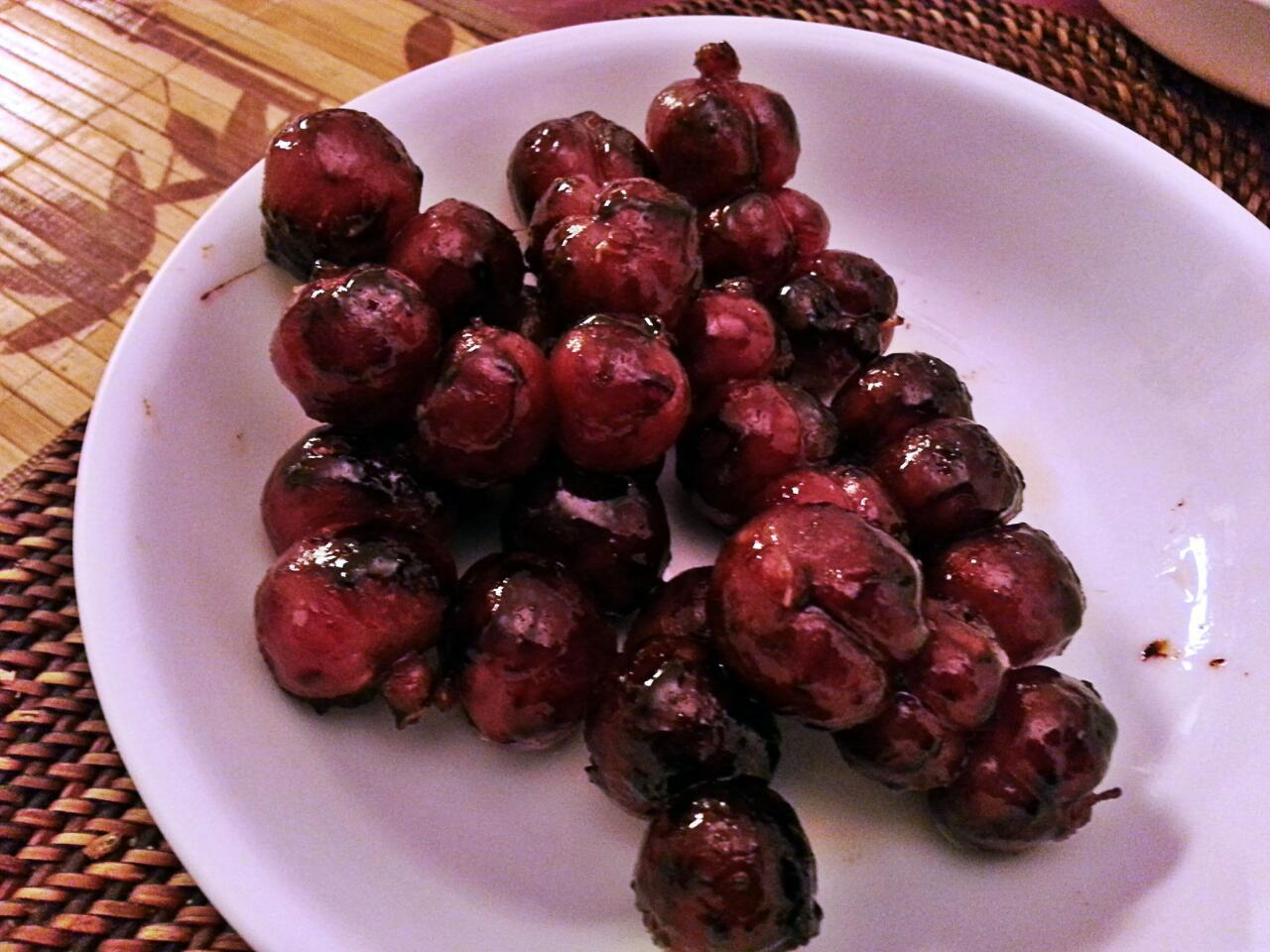 #FilipinoEats Cebu style chorizo look like roasted cherries.