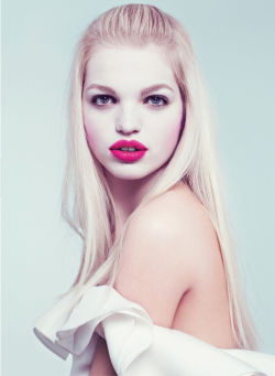 midnight-charm:  Daphne Groeneveld by Karl Lagerfeld for Flair Spring 2013
