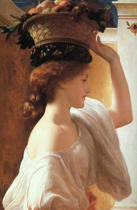 A Girl With a Basket of Fruit by Frederic Lord Leighton