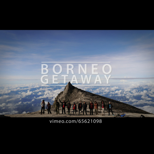 a bunch of friends went to the Borneo Island to complete their main mission, to conquer the highest mountain on Southeast Asia ( Mount Kinabalu - 4095 metres ). They did it in two days. The view was beautifully breathtaking throughout the journey while climbing the the mountain. Here's the video of the trip that has been shot is some places that we visited in Borneo. https://vimeo.com/65621098