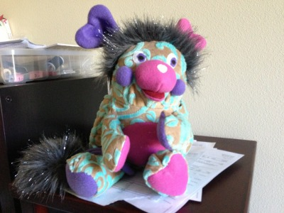 unicornconglomerate:  Here's another Popple I made for Geek Girl Con.