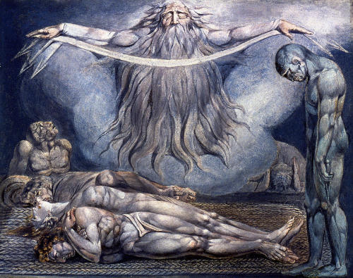 roninonabike:  william blake, house of death, 1795