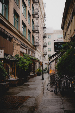 occluding:  Rainy Alley (by Kyler Barrett)