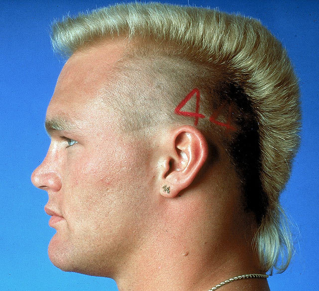 Brian Bosworth poses during a 1988 SI photo shoot. (Heinz Kluetmeier/SI) GALLERY: Rare Photos of Brian Bosworth