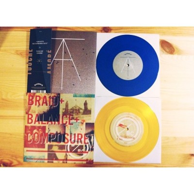 "7"" splits. @balanceandcomposure @nosleeprecords #toucheamore #pbtt #braid"