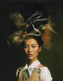 a-state-of-bliss:  Zoo Magazine Spr 2010 - Lui Wen by Aneta Bartos