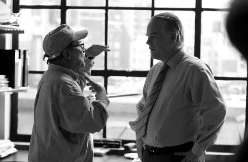 Sidney Lumet directs Philip Seymour Hoffman in Before the Devil Knows You´re Dead