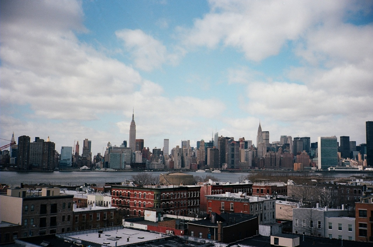 Manhattan Skyline Greenpoint, Brooklyn; Contax T2; Kodak Portra 400; Mar 2013