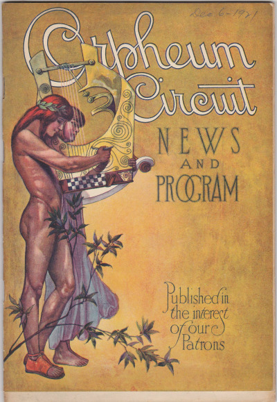Orpheum Circuit Theater Magazine c.1926