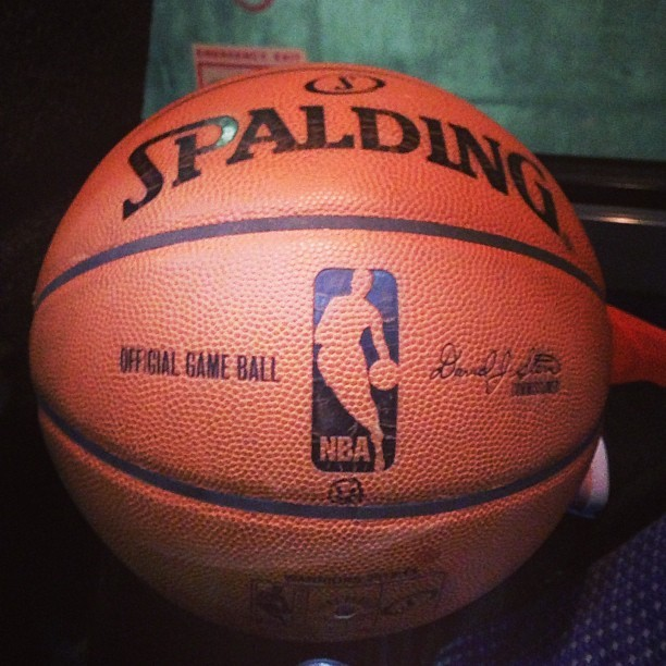 LeBron James - Here's the game ball that LeBron James scored his 20,000th point with. Congrats again