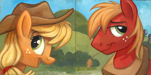 jeweldryn213:  Square Series - Applejack and Big Mac by *sophiecabra