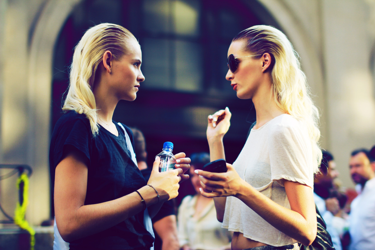 Ginta Lapina and Daria Strokous in conversation.