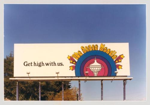 Billboard in Seattle in the 70s