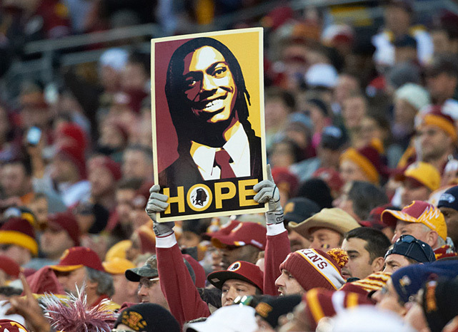 Robert Griffin III underwent surgery on Wednesday to repair his LCL and reconstruct his ACL. The recovery time is expected to be 6-8 months and Redskins fan can just hope RGIII returns to form. (Al Tielemans/SI) BURKE: Will RGIII return in 2013?